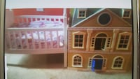 white and brown plastic doll house Prairieville, 70769