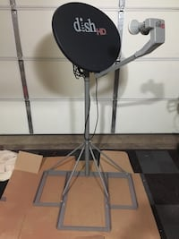 Metal frame stand for dish antenna