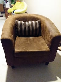 Brown fabric sofa chair North Vancouver, V7P