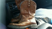 pair of brown leather cowboy boots Republic, 65738