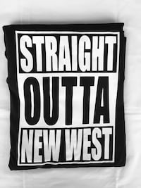 Straight Outta new west t-shirt