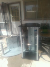 white and black wooden display cabinet Tempe, 85282
