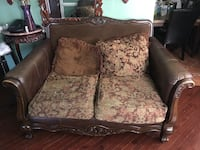 brown and beige floral loveseat Hyattsville, 20783