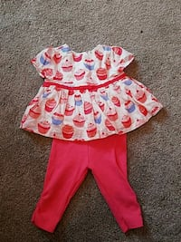 Cupcake babygirl outfit 3-6mos