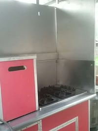 stainless steel and red gas range Beaverton, 97007