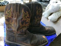 pair of black leather cowboy boots Abilene, 79601