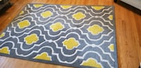 NWT Area Rug- Grey & Yellow- Burke