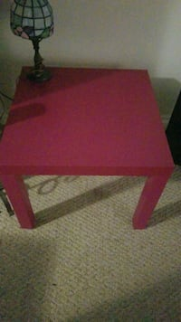 pink end table or side table.