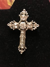Beautiful! Diamond sapphire Cross Pin/Brooch  Gainesville, 20155