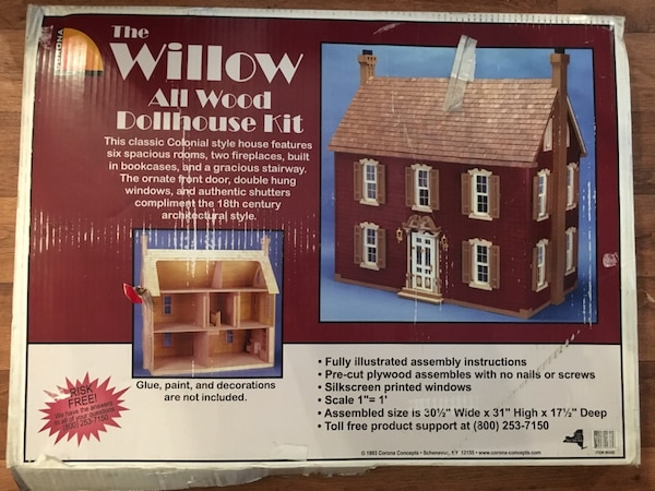 The Willow All Wood Dollhouse Kit