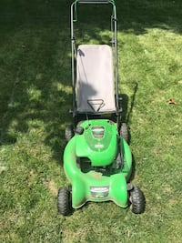 green and black push mower Chantilly, 20151
