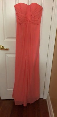 Coral Long Gown Size 2 Davids Bridal Mississauga, L5C 3J3
