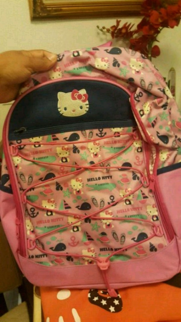 Used pink and white Hello Kitty backpack for sale in San Francisco - letgo eb923e5c79