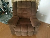 brown suede recliner sofa chair Frederick, 21702