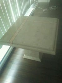 rectangular white wooden coffee table Gatineau