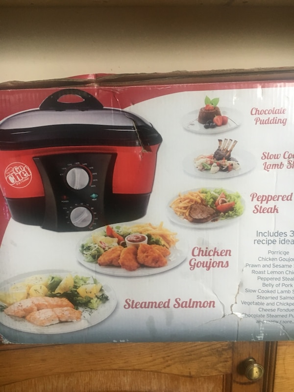Black and red slow cooker box
