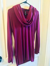 Maroon Long Sleeve Cowl Neck - Large Bryan, 77802