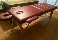 Large Burgundy Massage Table w/Storage Travel Carrying Case Bag Miami, 33133