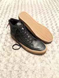 Vans hi-top leather paid $95 size 10.5 Like new! Women's size 12 Excellent condition like new