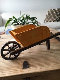 Rustic Wood Wheelbarrow Decor. 16 inches long, 6 1/2 inches Tall Cochrane, T4C 1K6