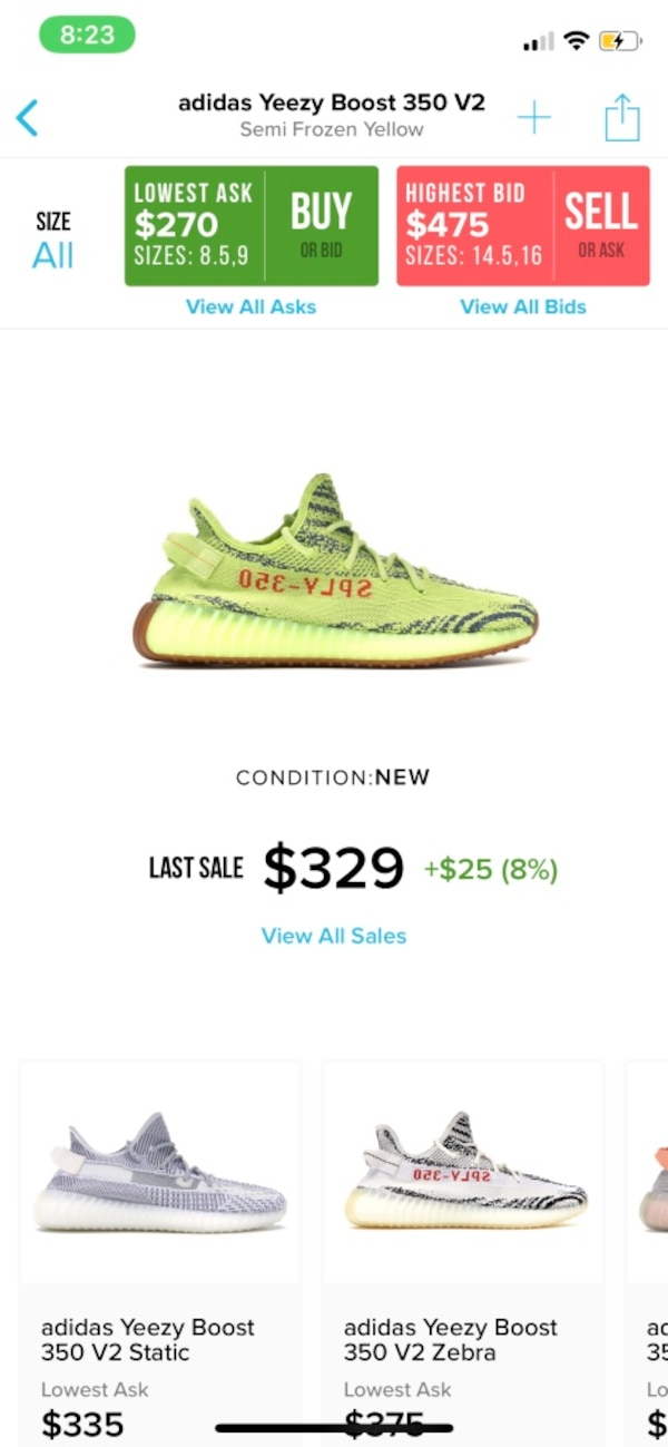 a07f2d0723659c Used YEZZY YELLOW FROZEN SIZE 10 for sale in Pacifica - letgo