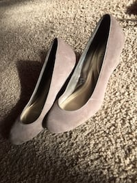 pair of gray suede pumps Hanahan, 29410