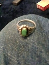 gold-colored and green gemstone ring Albuquerque, 87105