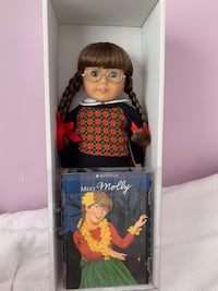 Molly McIntire Retired American Girl Doll, Book, Accessories