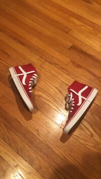 Size 11.5 , High top Vans Red Baltimore, 21212