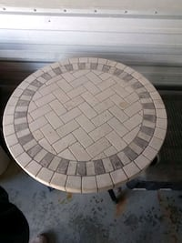 Finished tiled table