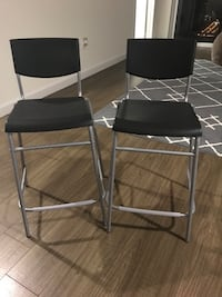 two black-and-gray metal chairs Miami, 33132