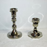 2 Silver Plate Candle Holders  Silverplate Mississauga