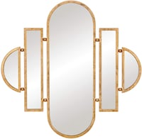 Antique Gold Geometric Wall Mounted Mirror 30x31