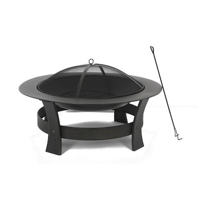 "Steel Fire Pit 35"" - Brand New Unopened"