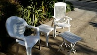 Outdoor chairs and side table San Mateo, 94402