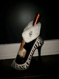 Wine shoe with bottle sash from Bombay Co Mississauga