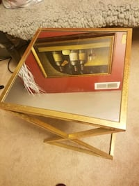 Gold mirror glass end table  Laurel, 20707