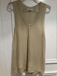 BANANA REPUBLIC Medium sleeveless top knit beige