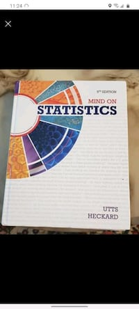 Mind on Statistics, solution manual and graphing calculator $120