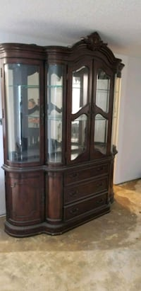 brown wooden framed glass display cabinet Laval, H7P 3A7