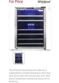Whirlpool Dual Temperature Wine Cellar (Refridgerator) Springfield, 22153
