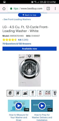 New Lg washer and dryer electric delivery availabl Franklin Park, 60131