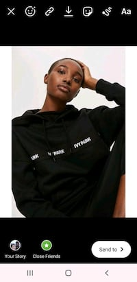 (M) Ivy Park black logo hoodie New Haven