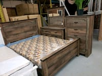 Brand new 7pc queen bedroom set on sale  Toronto, M9W 1P6