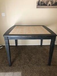Tile and wood dining table