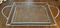 Glass and metal serving tray Mc Lean, 22101