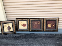 three brown wooden framed paintings Bolton, L7E 1C8