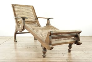 Vintage British Colonial Chaise Lounge (1015769)
