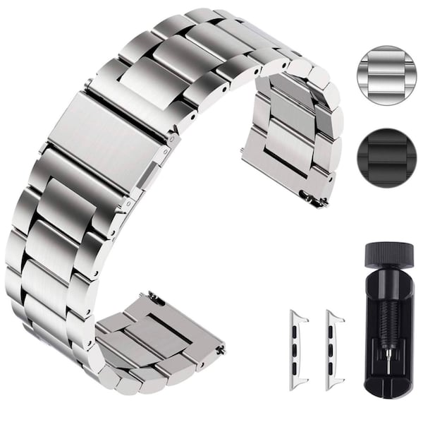 Apple Watch 44mm Stainless Steel Watch Band c412432e-5dce-4e55-a1b8-6e798a0a4c8e