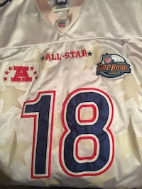 white NFL All-Star Pro Bowl 18 jersey Martinsville, 46151
